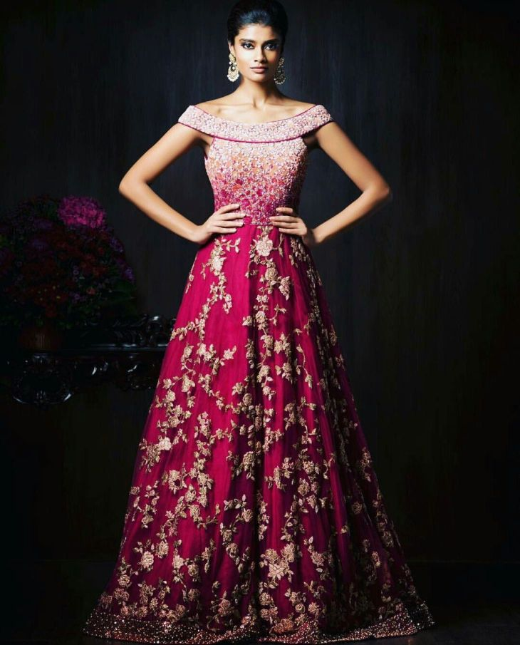 Gorgeous New Indian Reception Gown Styles For Indian Brides  Indian
