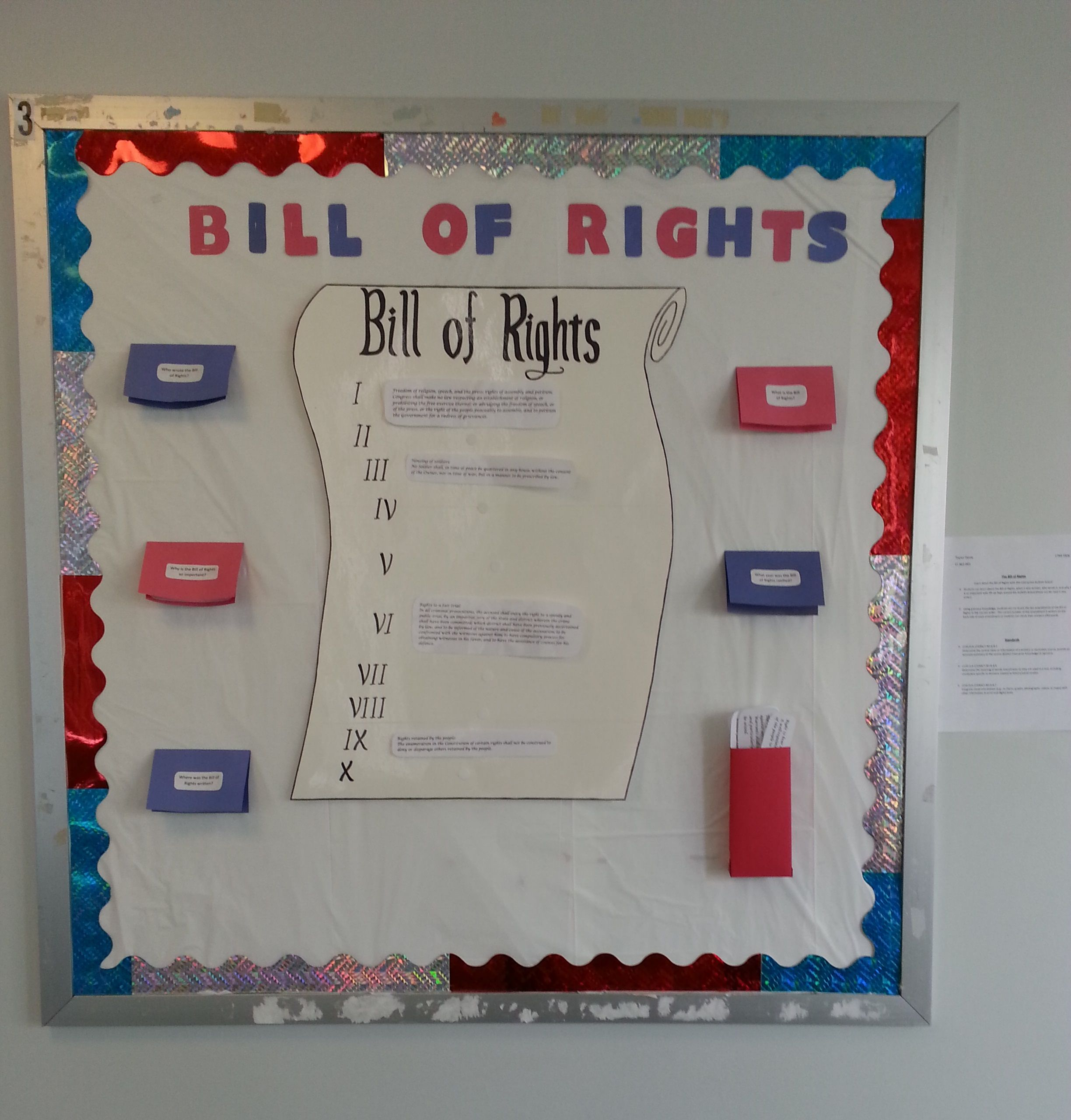 Timeline Bulletin Board For Ci 362 The Bill Of