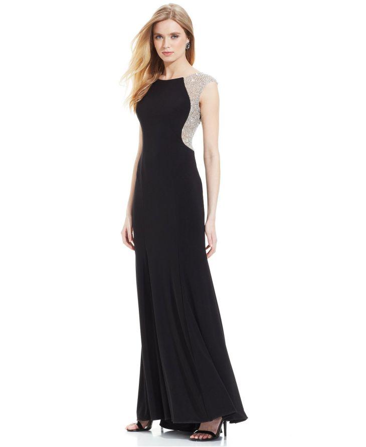Xscape CapSleeve JewelBack Gown Macyus sponsored My style