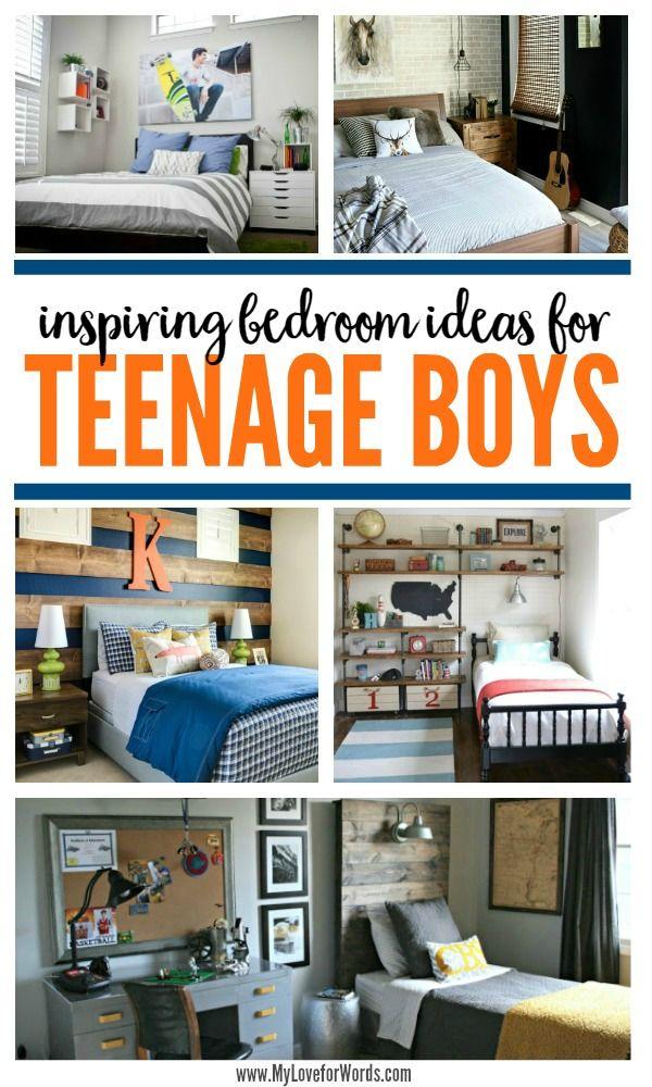 Inspiring Bedroom Ideas for Teenage Boys | Young man, Men ... on Teenage Guys Small Room Ideas For Guys  id=98090
