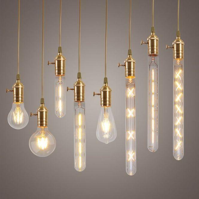 Dimmable E27 Led Edison Cob Bulbs Retro Classic Filament Globe Christmas Lighting Ac220v