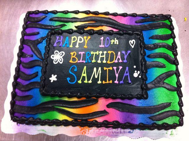 Zebra Cake Cake Birthdays And Birthday Cakes