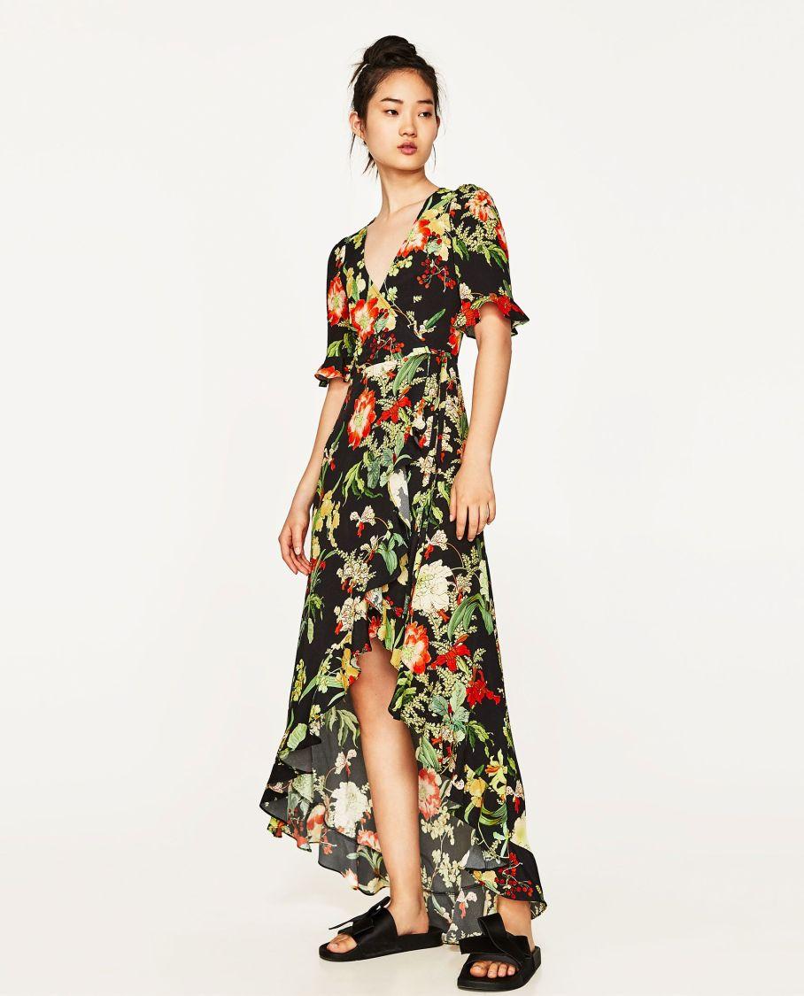 b5934f571c12 Long floral print dress trend fw floral pinterest zara