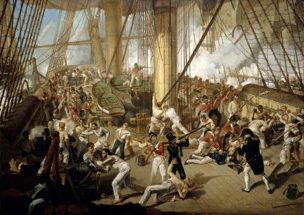 The Fall of Nelson, Battle of Trafalgar, 21 October 1805 ...