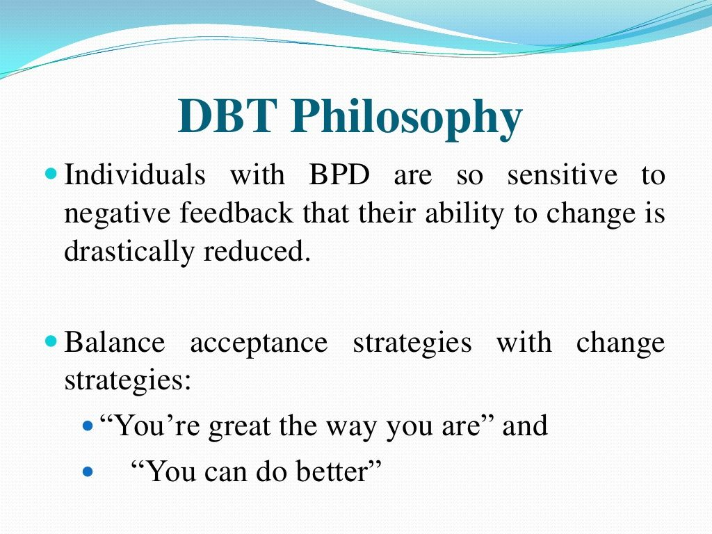 Dbt Philosophy