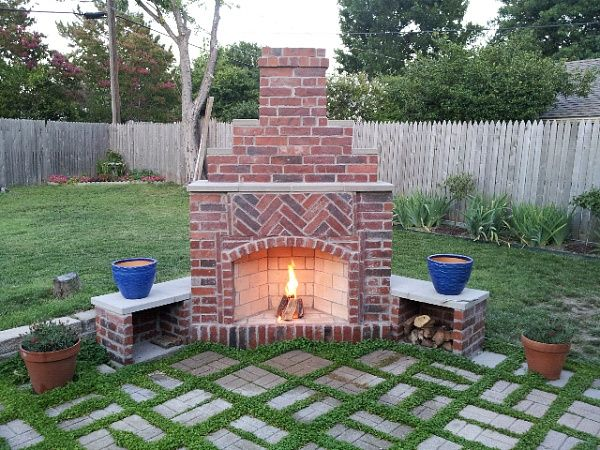 small outdoor patio fireplaces Small Outdoor Brick Fireplaces | Related Post from DIY