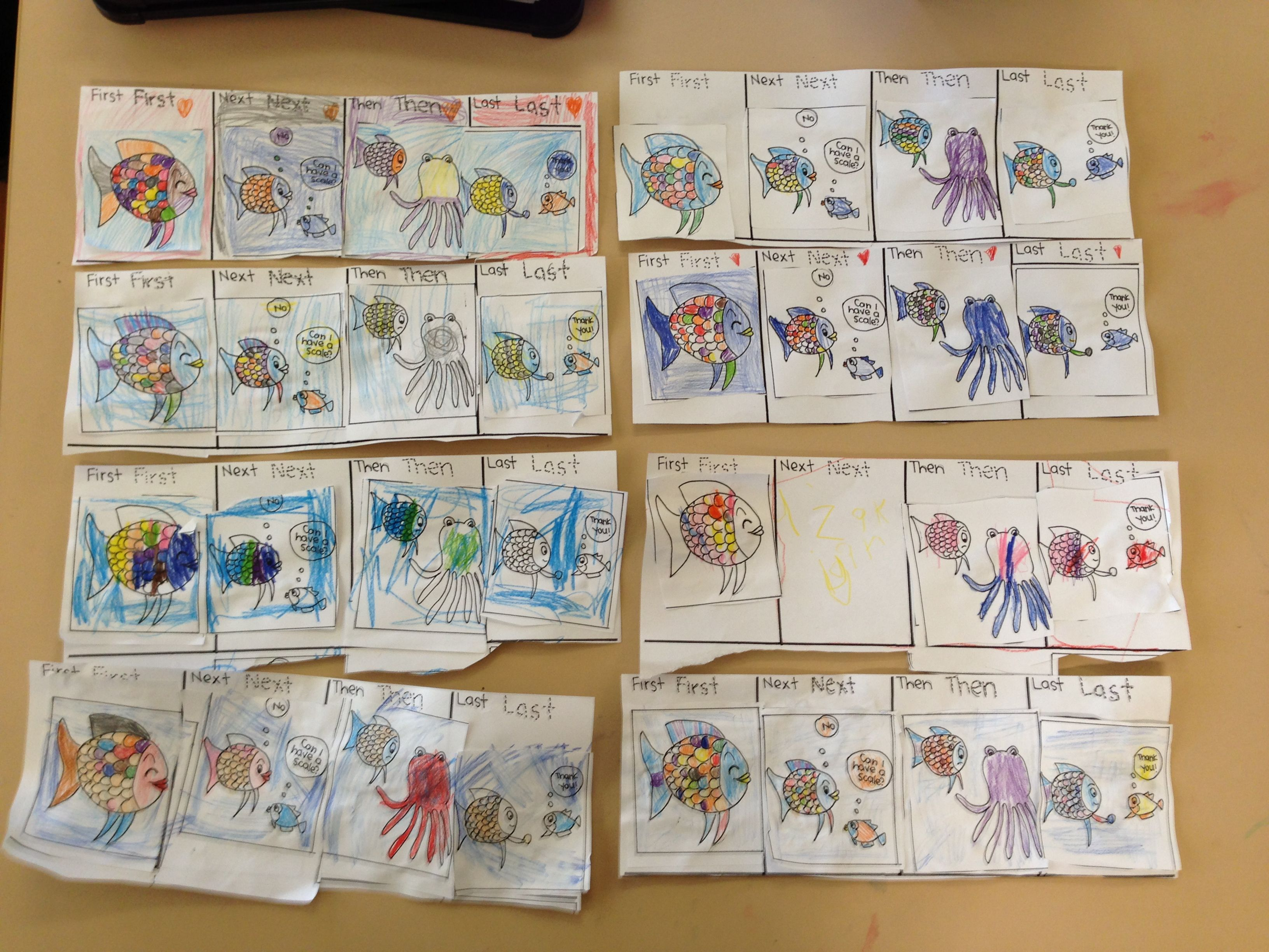 Maths Hsie The Rainbow Fish Sequencing And Good Quality