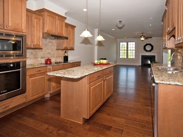 maple cabinets tile backsplash - Google Search | For the ... on Backsplash For Maple Cabinets And Black Granite  id=28856