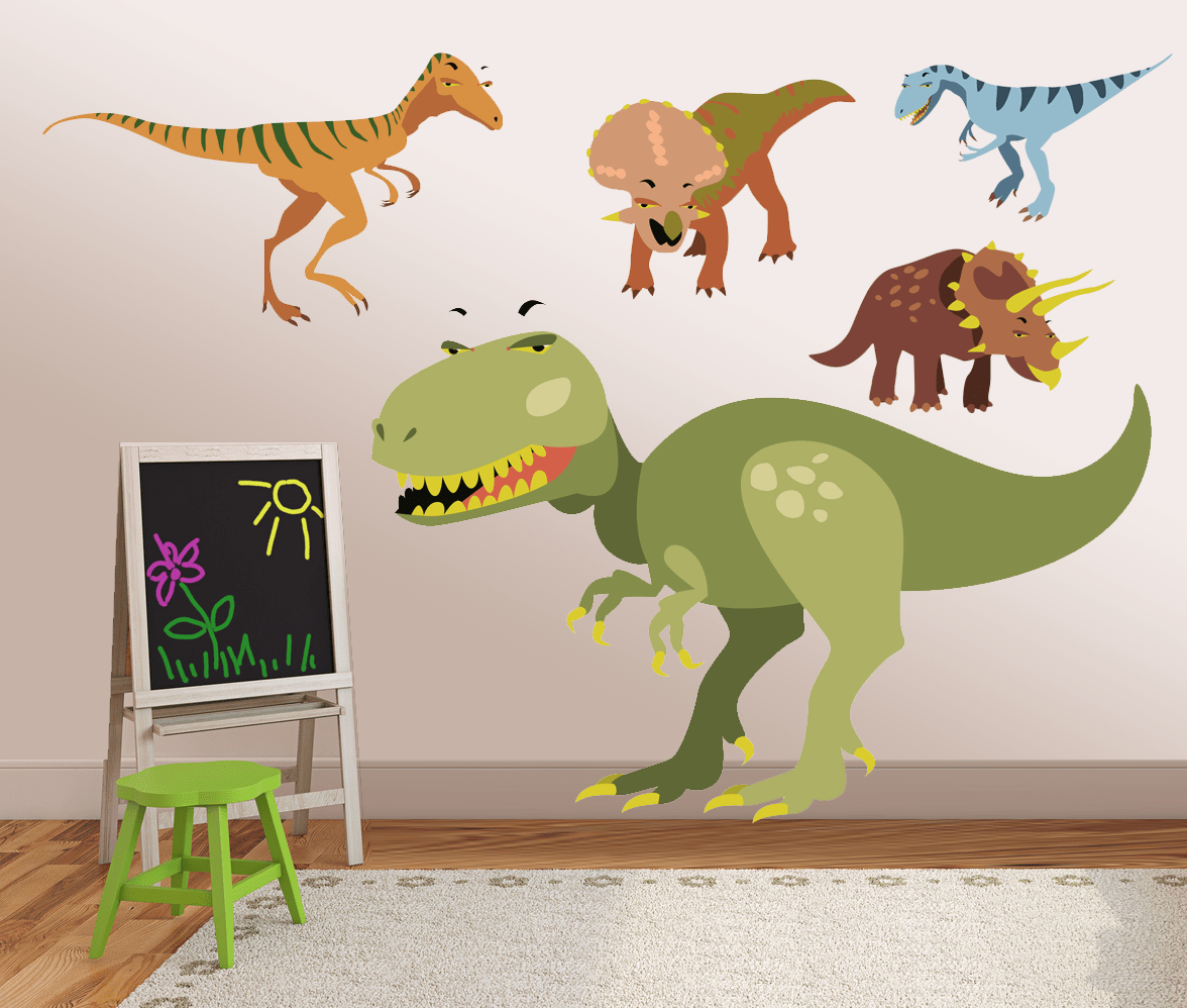 vinyl dinosaur wall decals kids wall stickers dino on wall stickers for kids id=92605