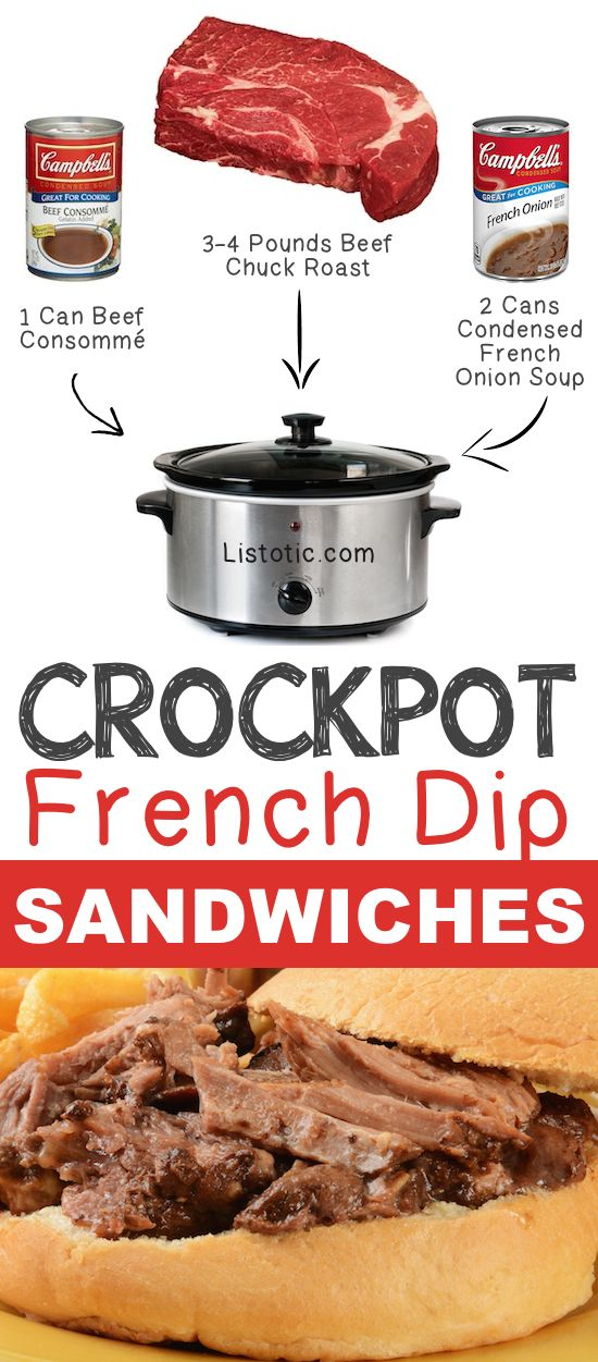 #4. Crockpot French Dip Sandwiches | 12 Mind-Blowing Ways To Cook Meat In Your Cro