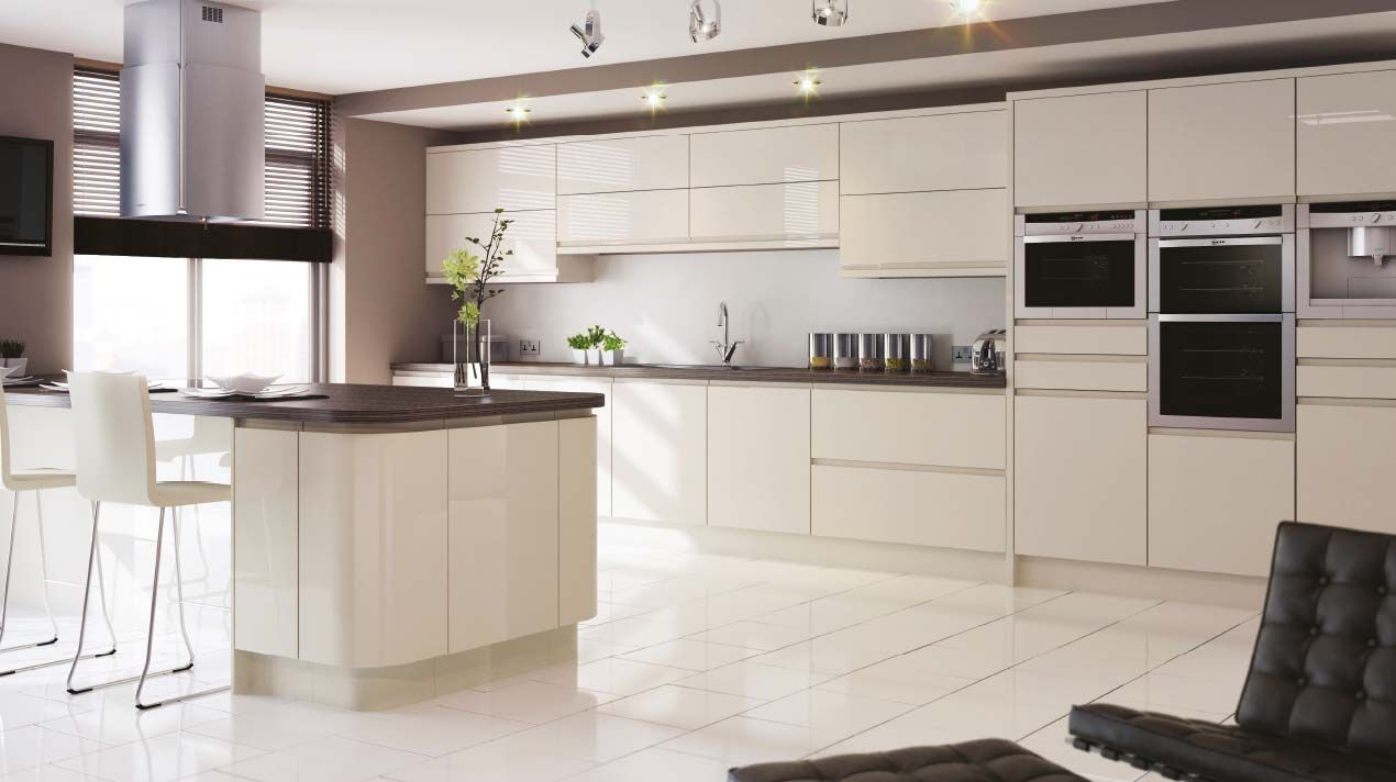 sheraton in line gloss kitchen j pull doors with an integrated handle in the shape of a j on j kitchen id=96799