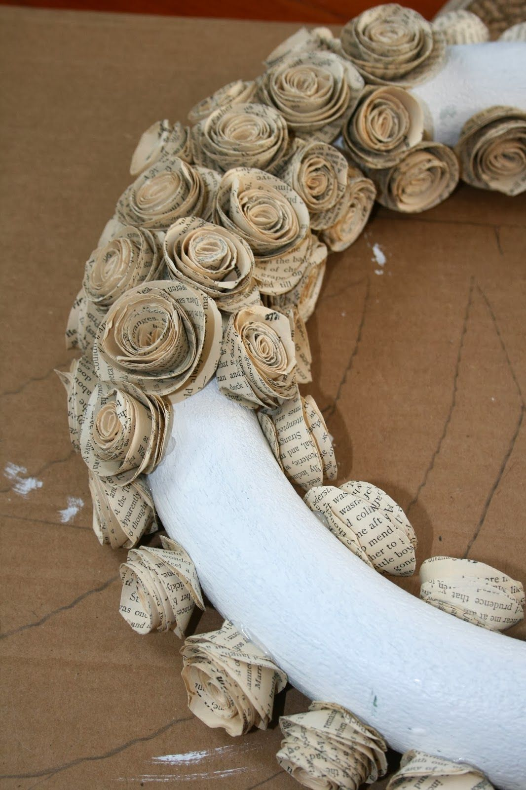 Betty Susanne How To Make A Wreath With Paper Book Pages
