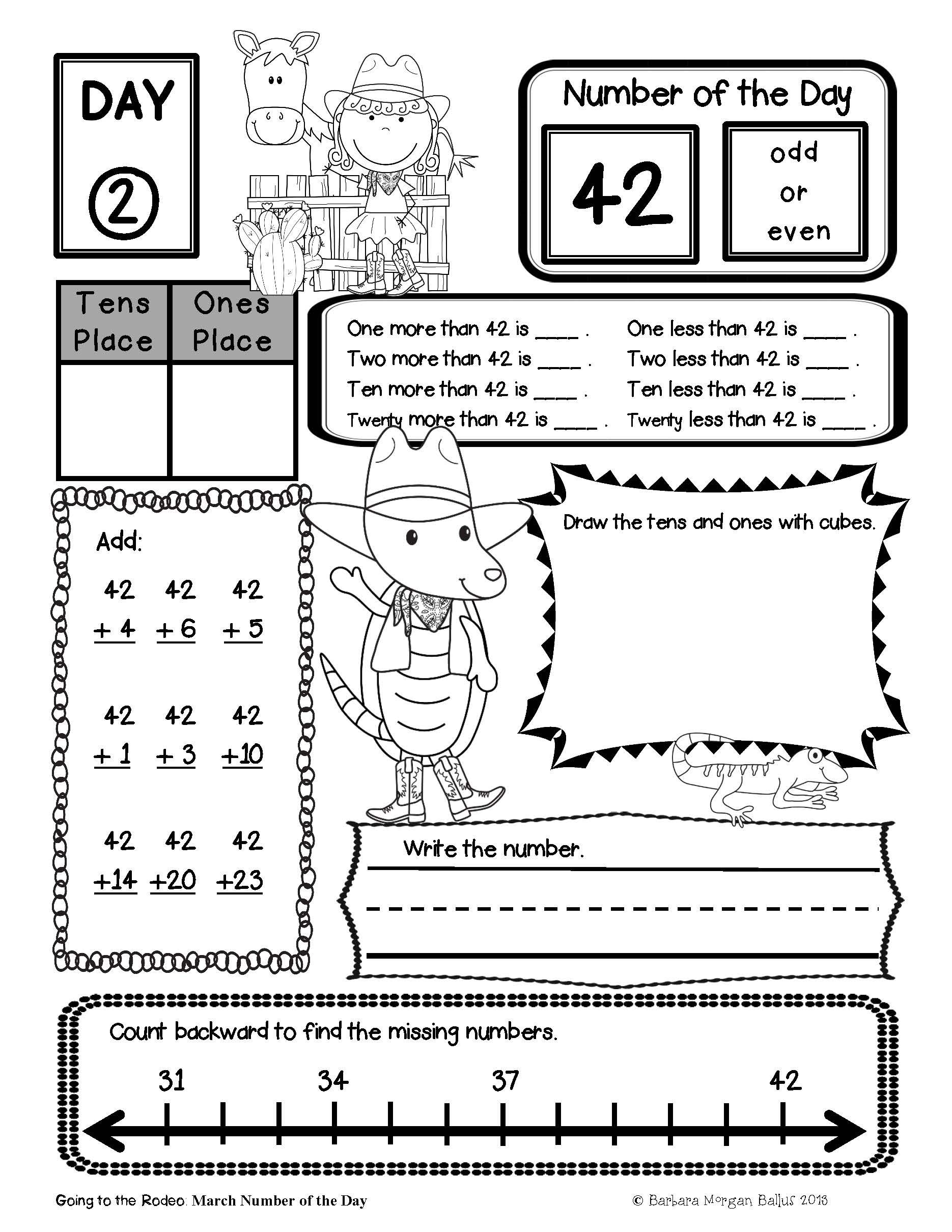 Back To School Math First Grade Place Value Bundle Number Of The Day Morning