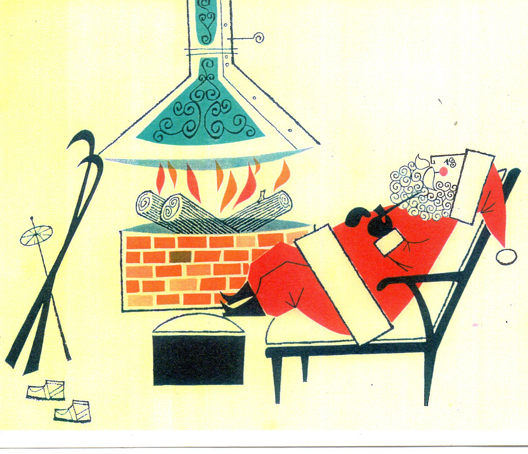 Mid Century Santa From A Great Christmas Card Site Mid
