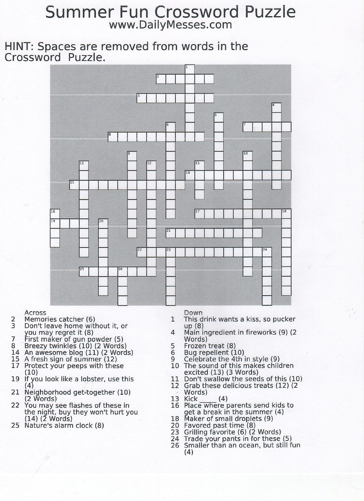 Fossils Fossils Crossword Puzzle