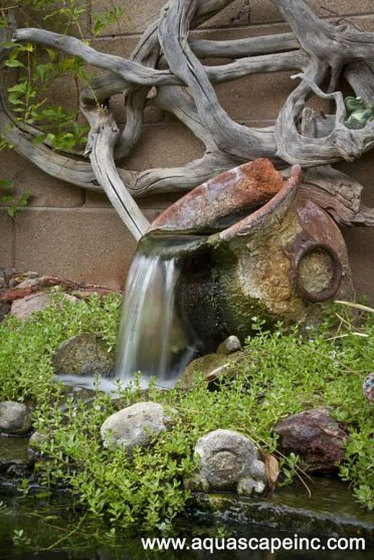 Marvelous Small Waterfall Pond Landscaping Ideas for Backyard