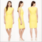 J crew linen twistfront dress in yellow petite sizes petite and