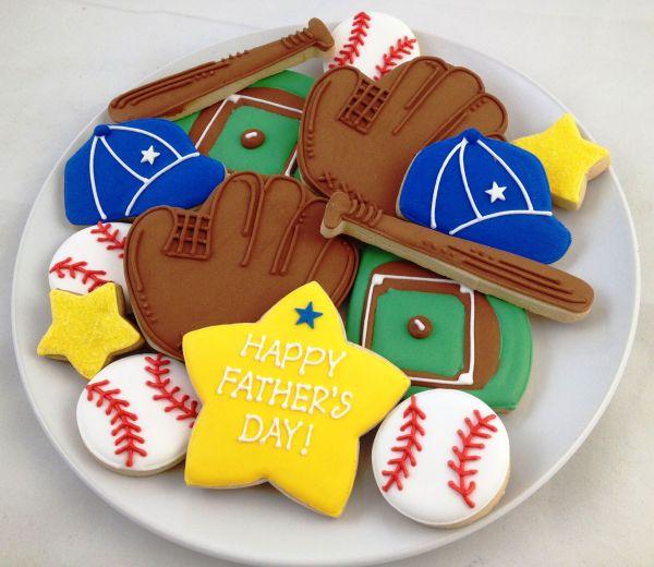 Baseball Father's Day Cookies - $35.00 | Galletas ...