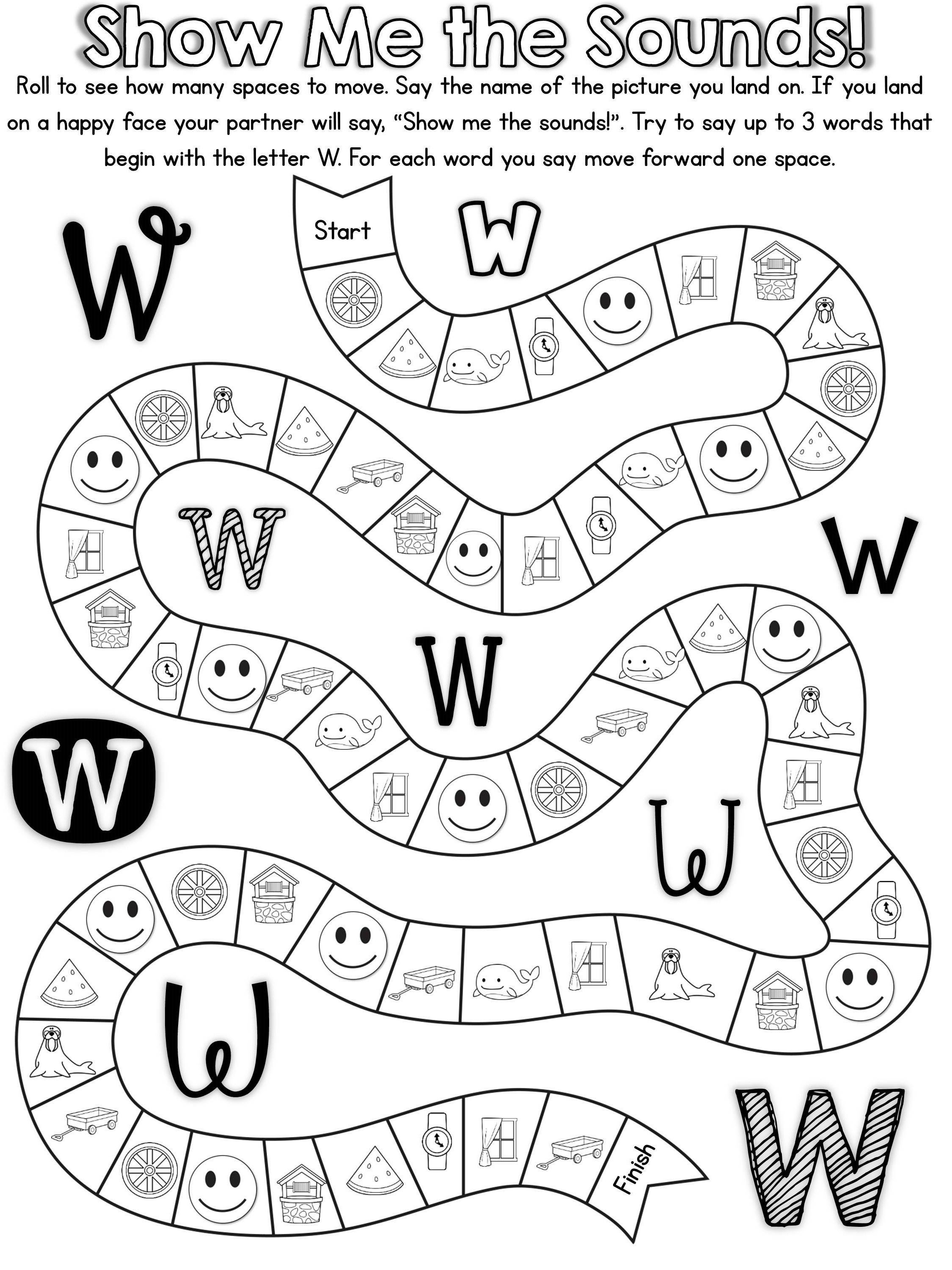 20 Ready To Print No Prep Games To Practice The Letter W