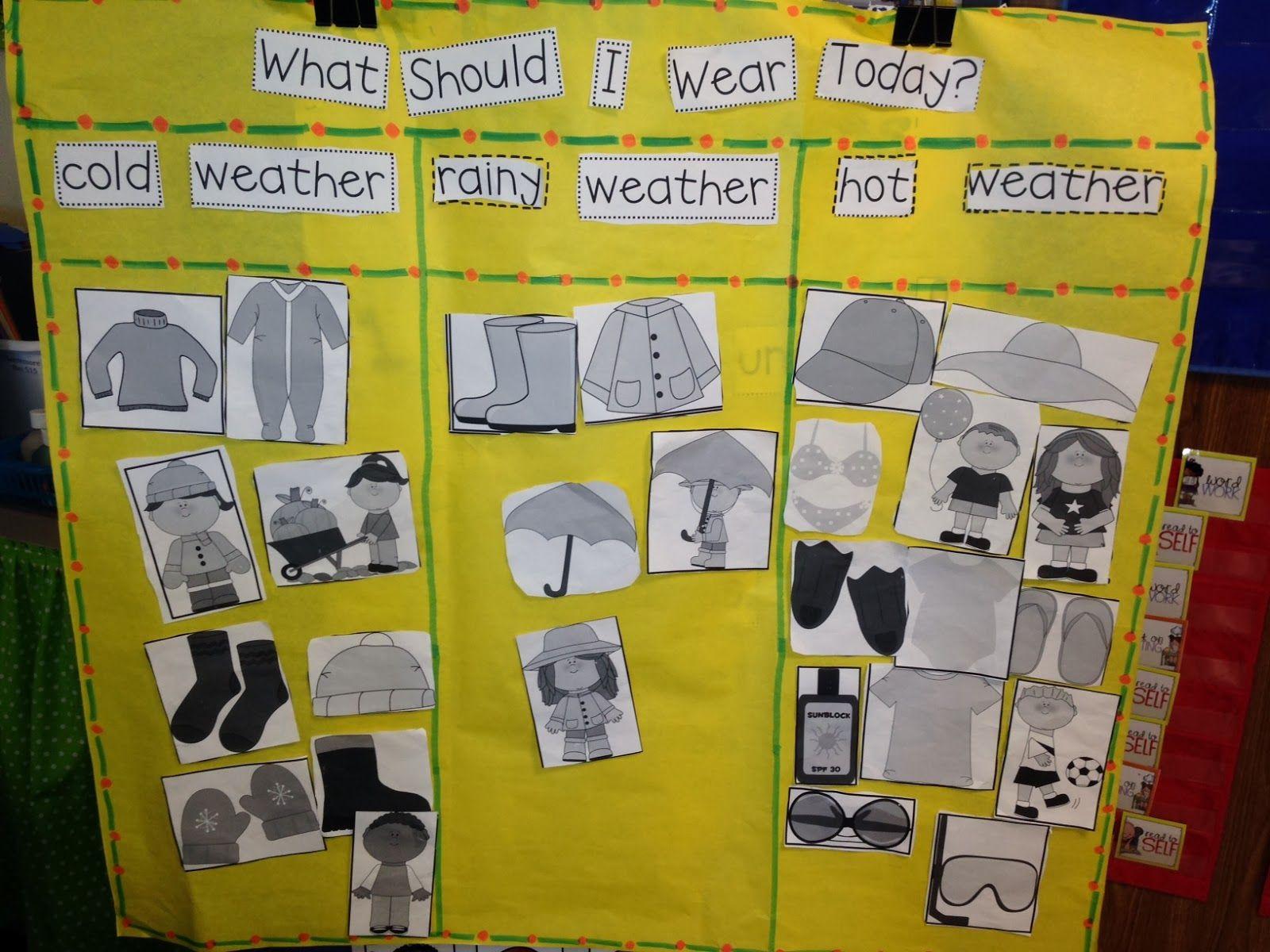 Weather Chart What Should I Wear From Chalk Talk A Kindergarten Blog