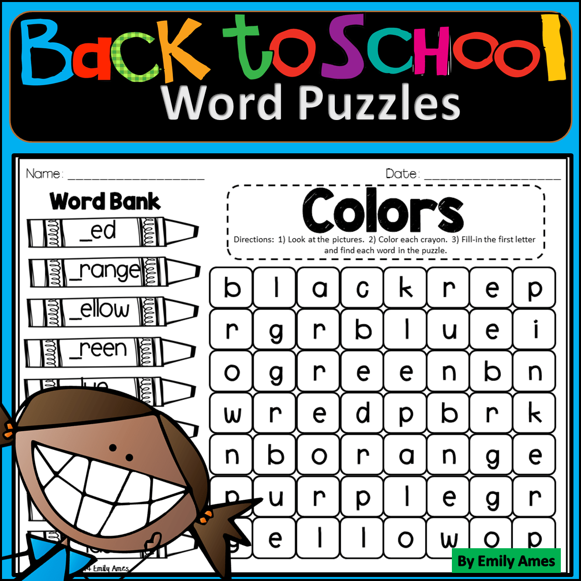 Back To School Word Search Fill In And Find Phonics Puzzles