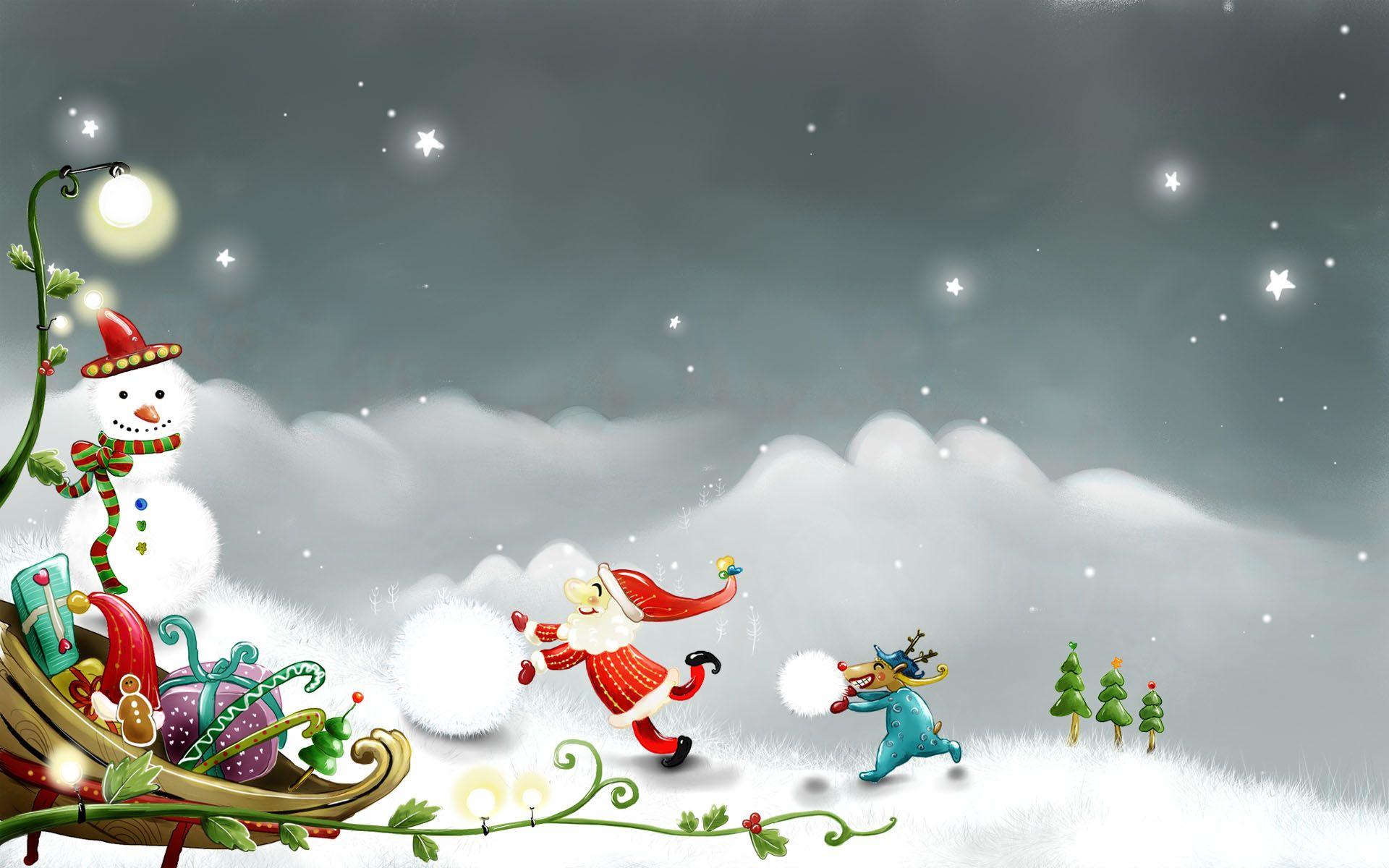 christmas snowman wallpaper | christmas snowman snow santa claus