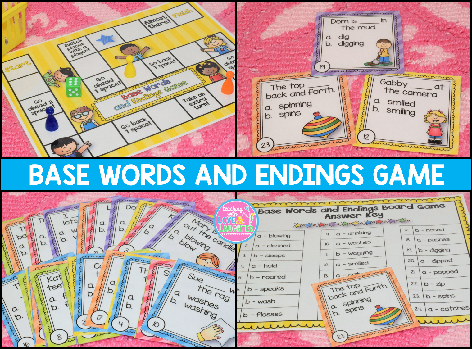 Base Words And Endings Activities Adding S Es Ed
