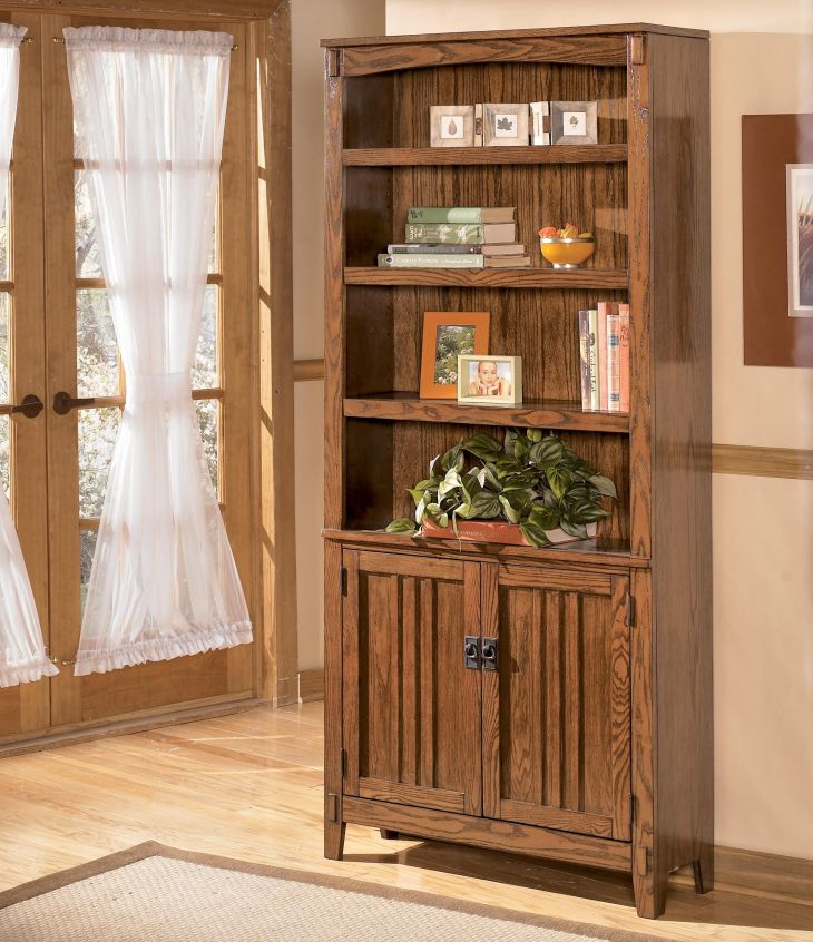 Cross Island Large Door Bookcase by Ashley Furniture Doors