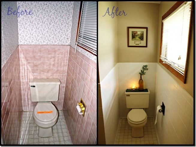 how to paint over ugly old tile. this is a must-have tutorial to