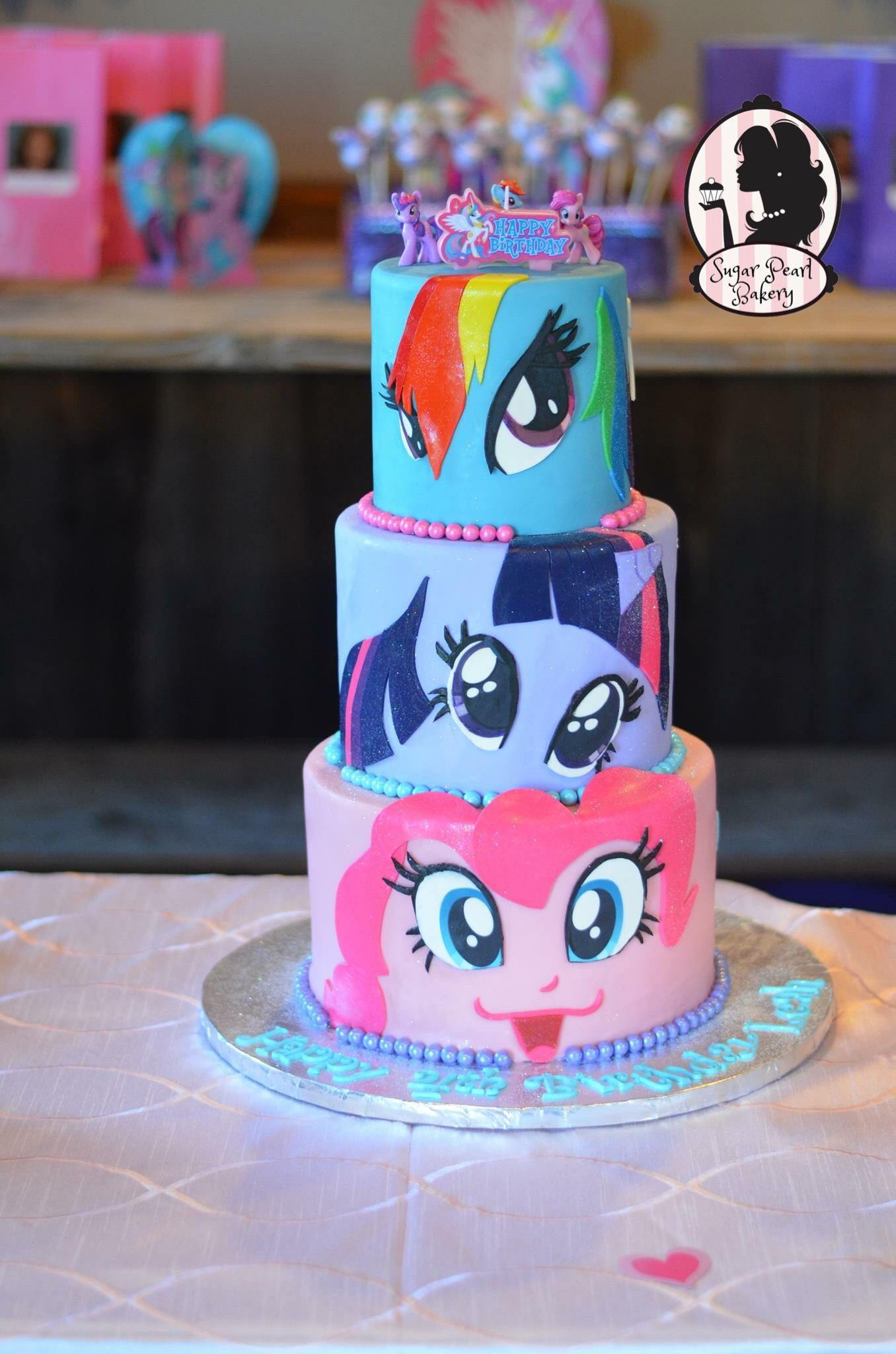 My Little Pony Faces Birthday Cake Original Design