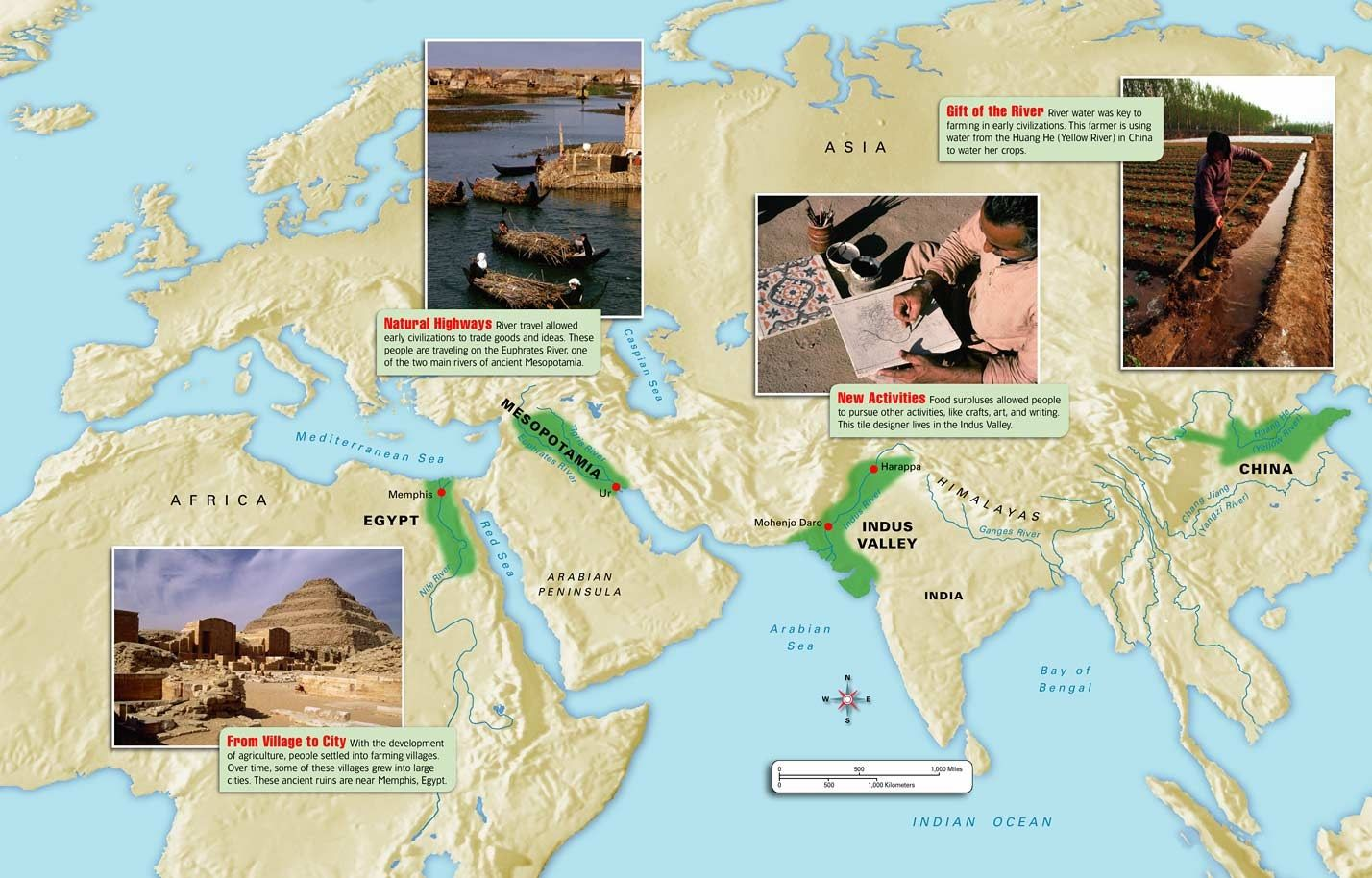 The Earliest Civilizations Emerged In A Egypt Along The