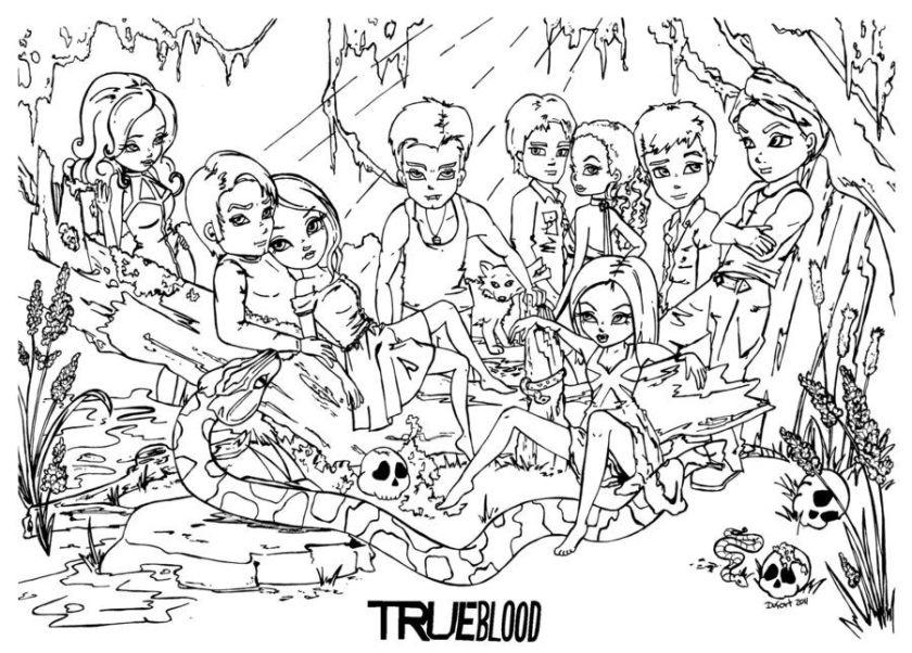 true blood*jadedragonne  printable art/coloring pages