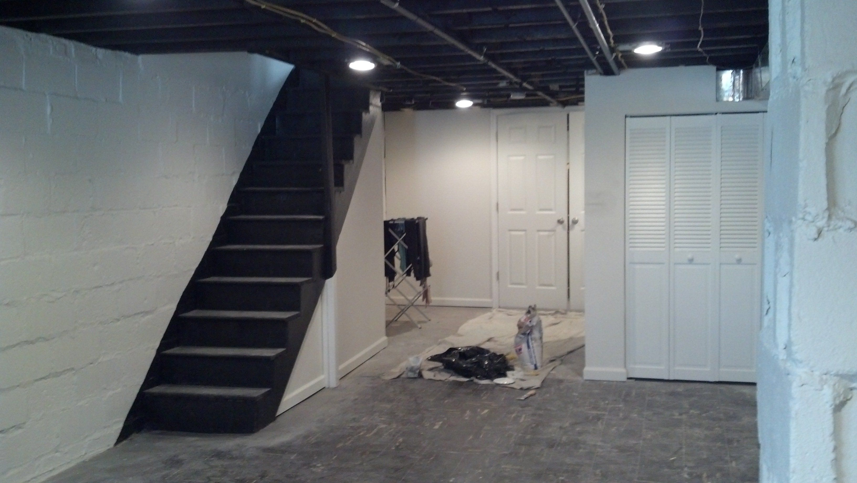 decoration makeover basement painted with white wall on concrete basement wall paint colors id=90144