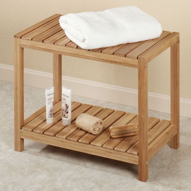 Bamboo Spa Bench For our spa bathroom