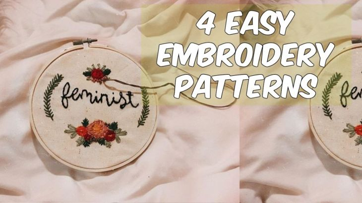 Embroidery for Beginners Easy Patterns Embroidery Pinterest