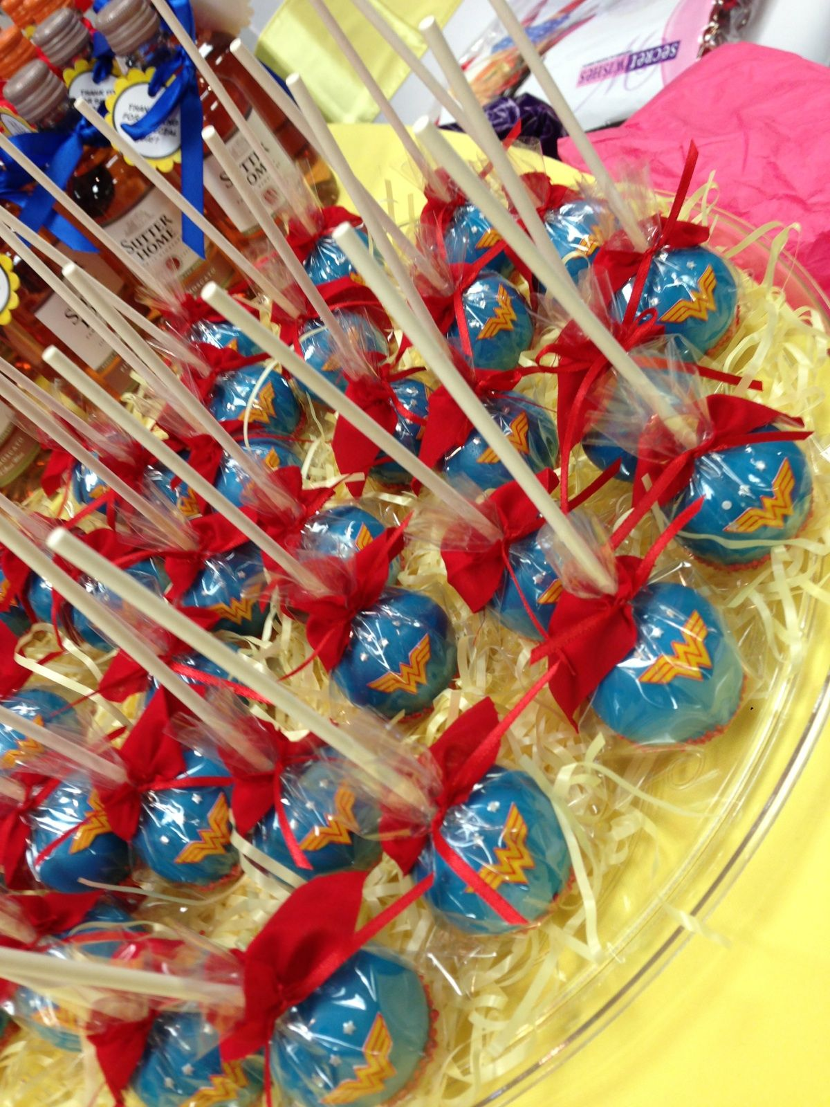 Wonder Woman Cake Pops