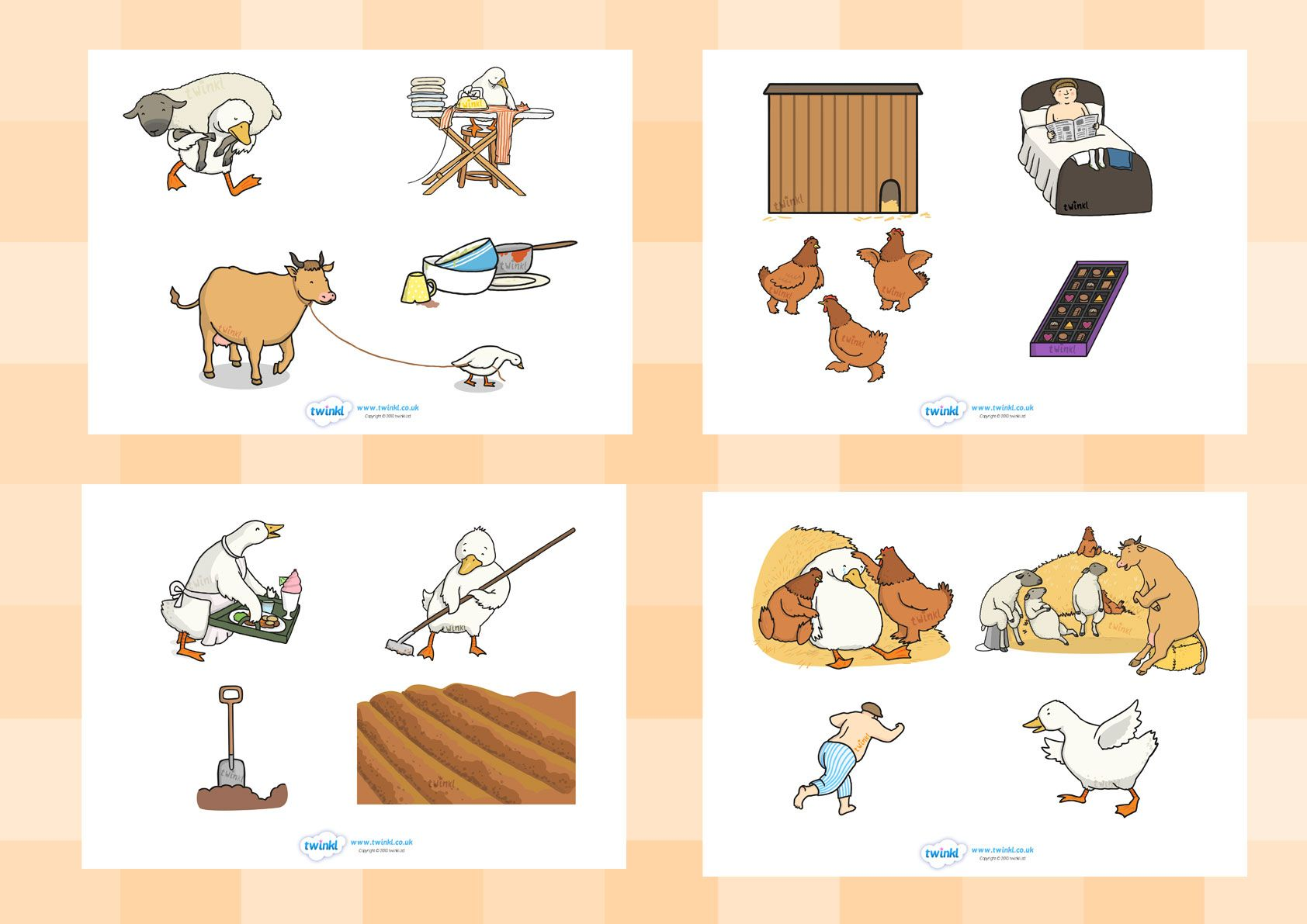 Twinkl Resources Gt Gt Farmer Duck Story Cut Outs