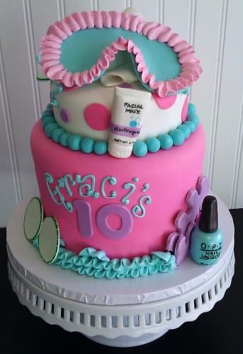 Spa Party Cake For Sarah S 10th Cake Pinterest