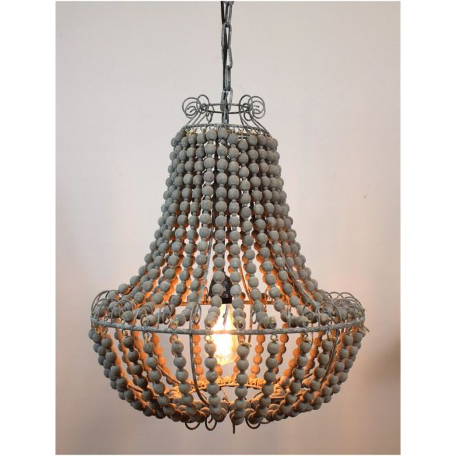 Elegant Wood Beaded Chandelier Light Fixture Ceiling Wooden And Interior Gallery Part Of On Sitoutils