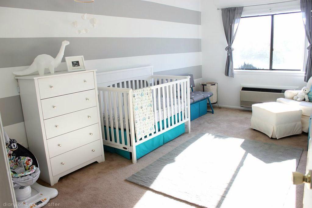 Landon's Grey And White Nursery