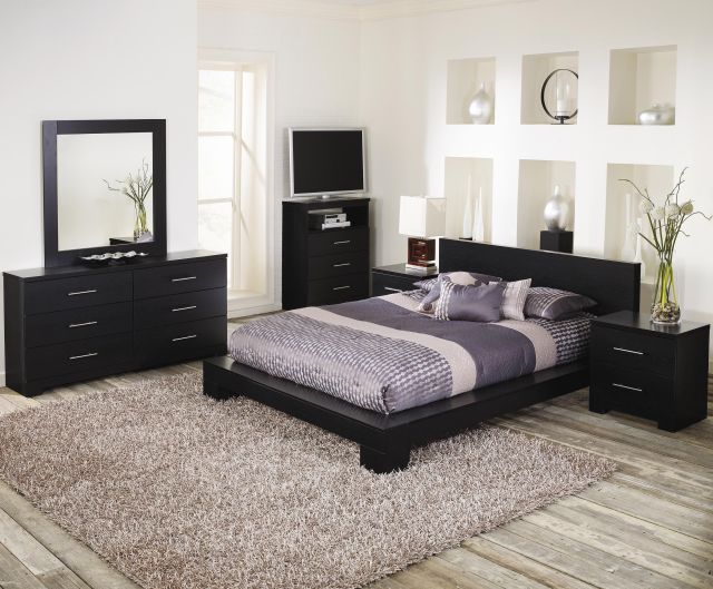 Lang Furniture Brooklyn Cinder Platform Oak Bedroom Set