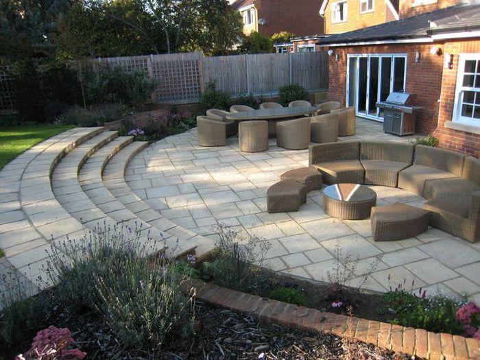 Garden patio ideas sloping garden, wooden gazebo plans uk ... on Patio Ideas For Sloping Gardens id=53912