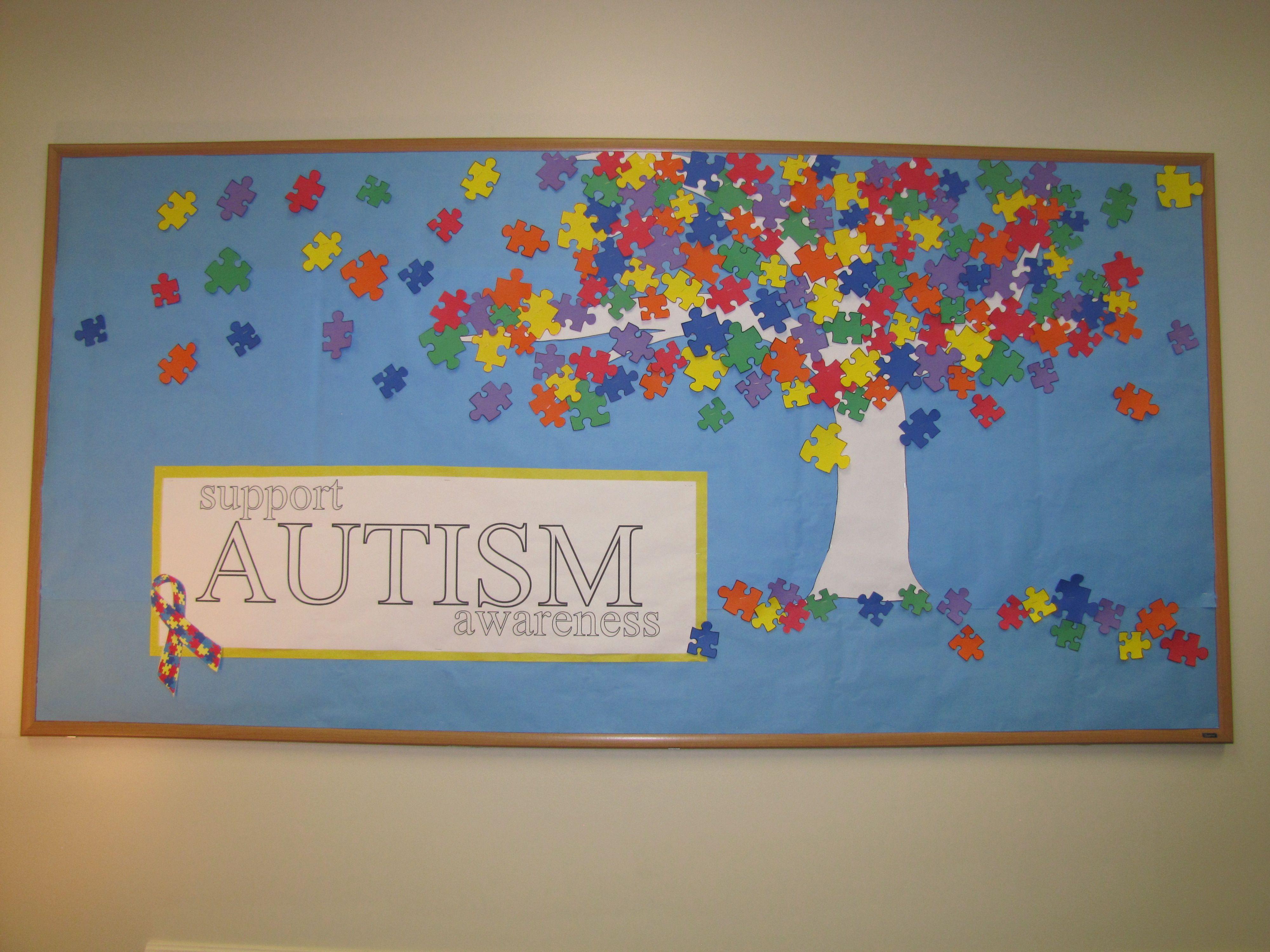 Support Autism Awareness Bulletin Board