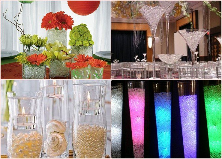 Wedding Centerpiece Ideas Water
