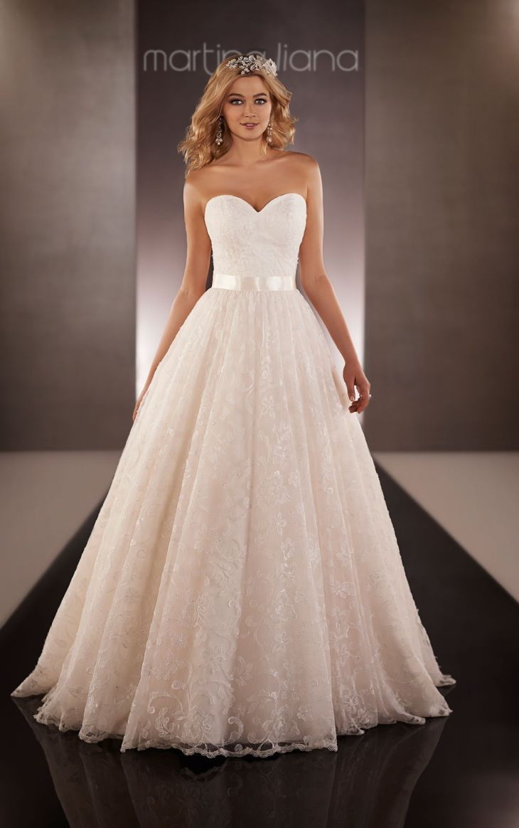Organza Fit and Flare Wedding Gown  Full skirts Ball gowns and Bodice