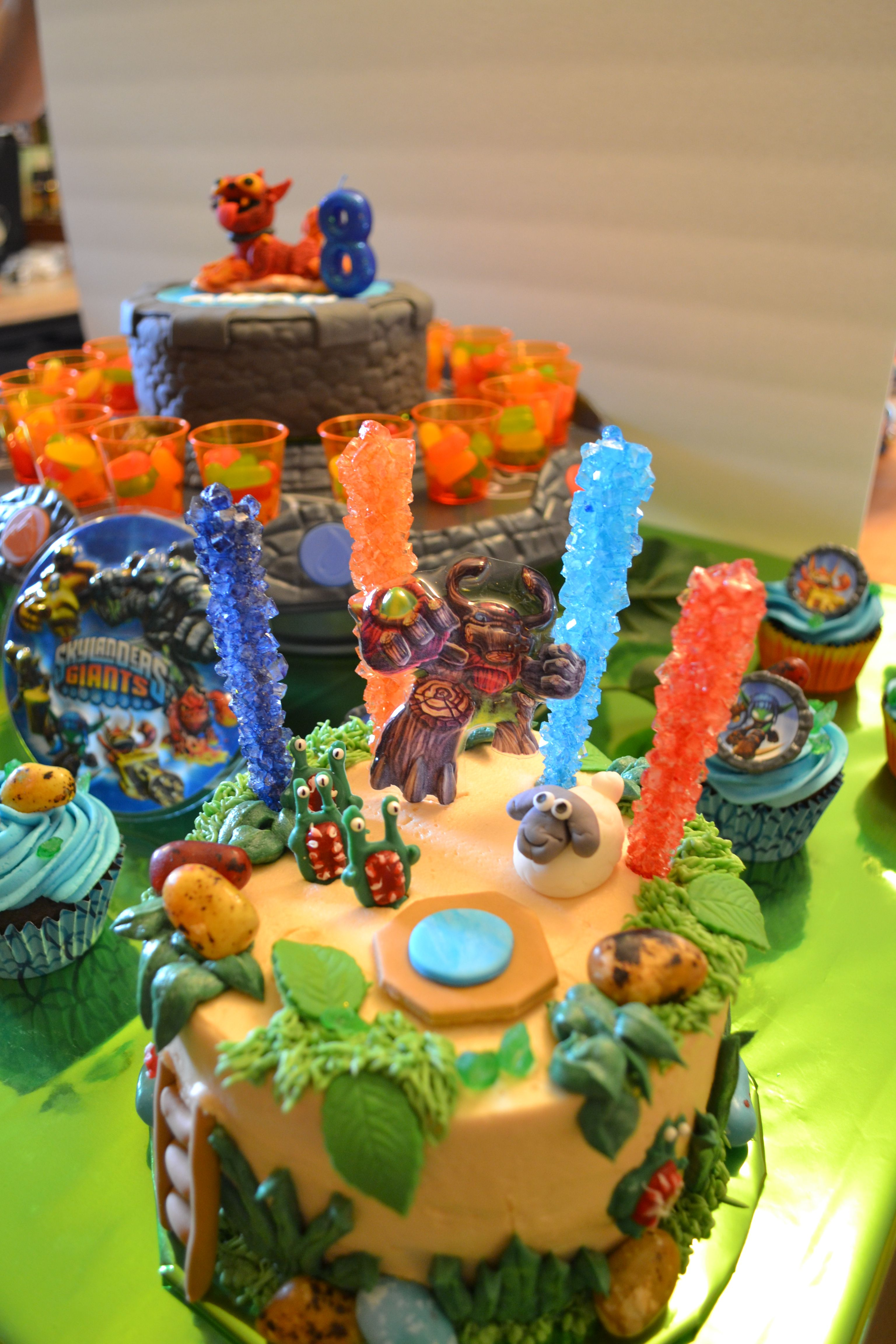 Skylander Birthday Cake Close Up Of Worlds With Sheep And