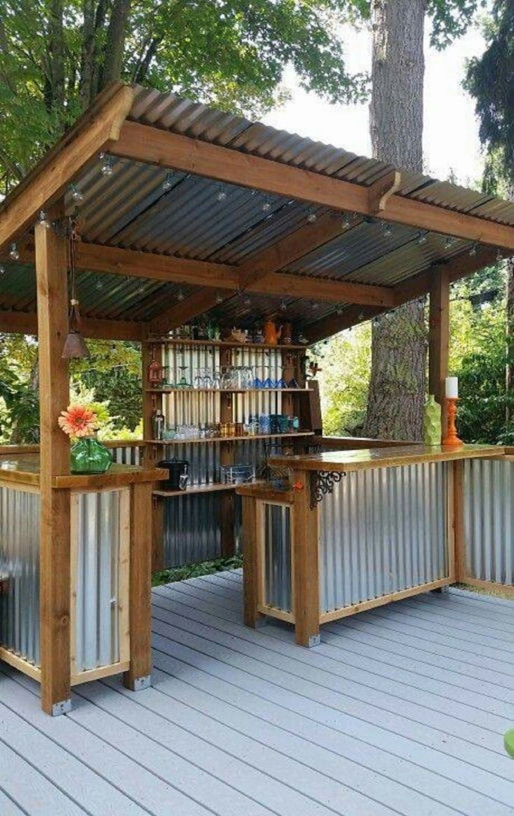Backyard bar Ideas Pinterest Backyard bar Backyard and Bar
