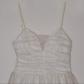 Emerald sundae juniorus gold glitter white dress white party