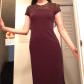Liz claiborne dark chocolate brown dress fits liz claiborne