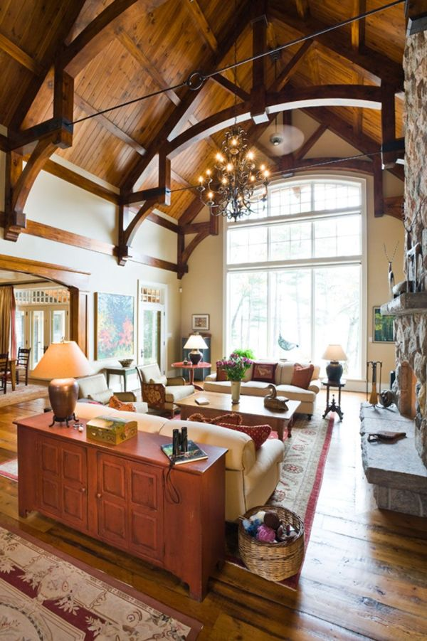 lake cottage interior design Muskoka Lakes Cottage